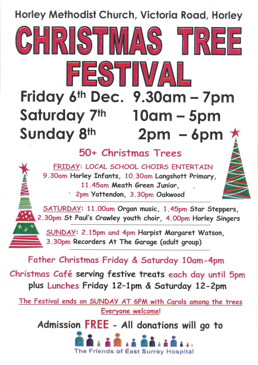 Poster for Christmas Tree Festival Full Text Below