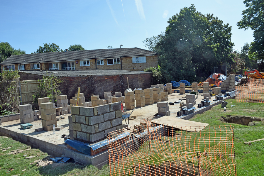 Photograph of cafe build progress