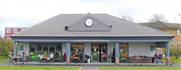 Photograph of Cafe on opening day