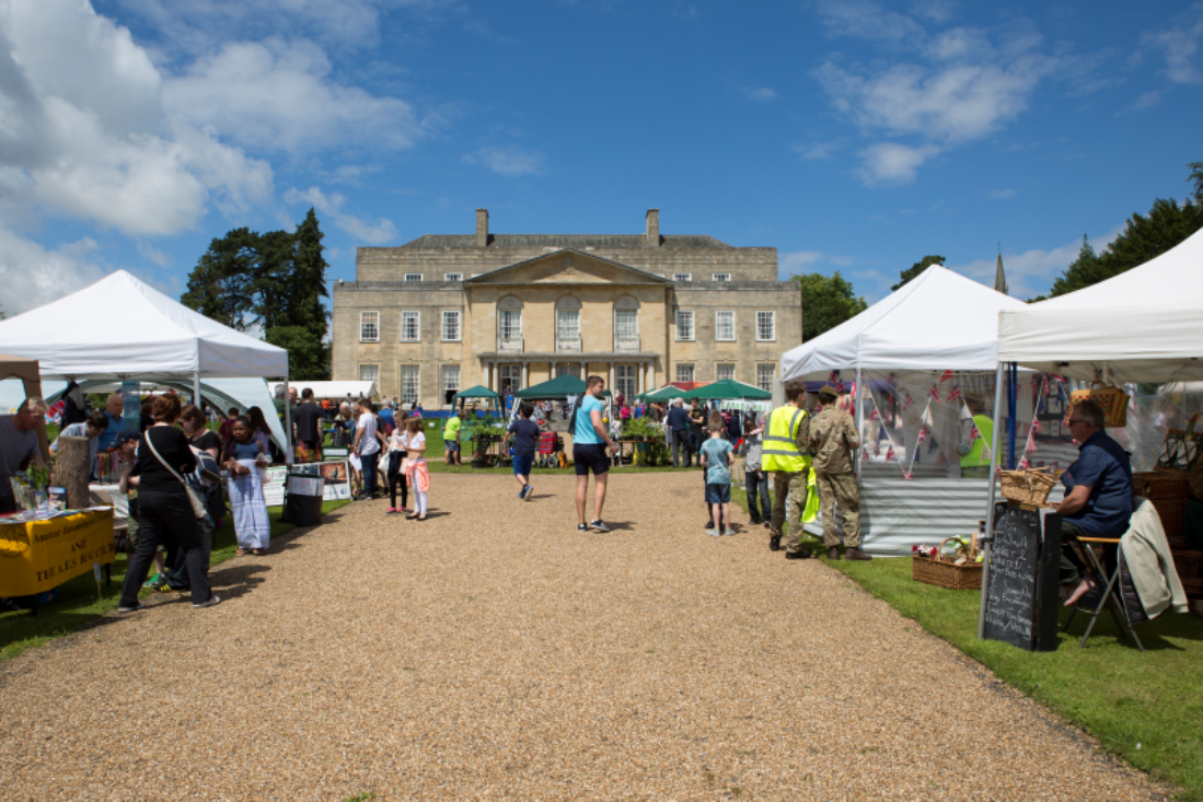 Photograph of Gatton Country Fair with the stately home in the background