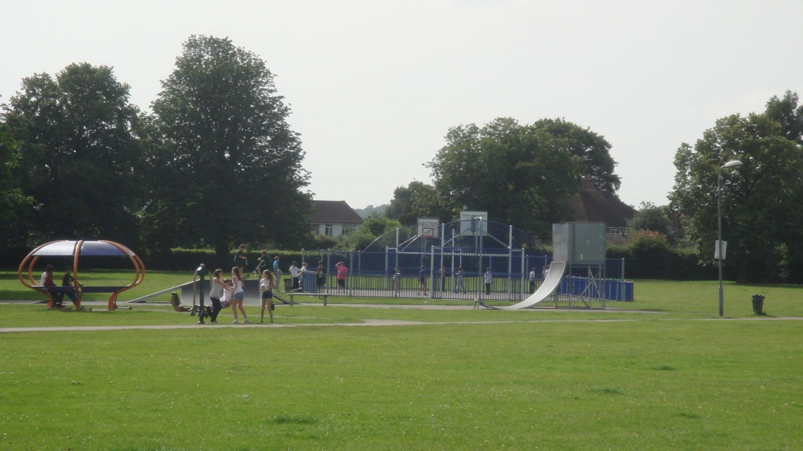Photo of the basketball courts at Horley Recreation Ground