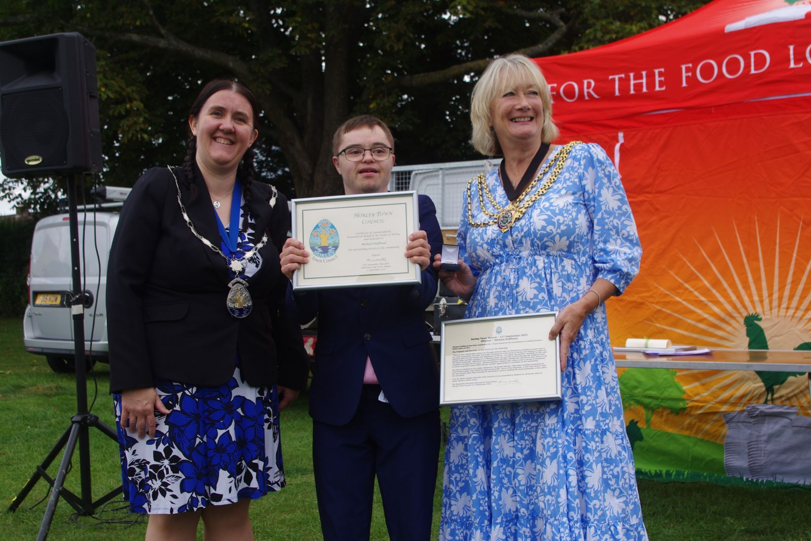 photo of Town award being received