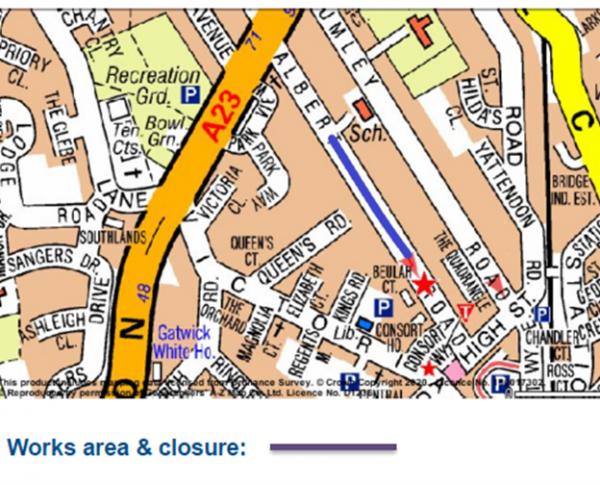 Map of Albert Road