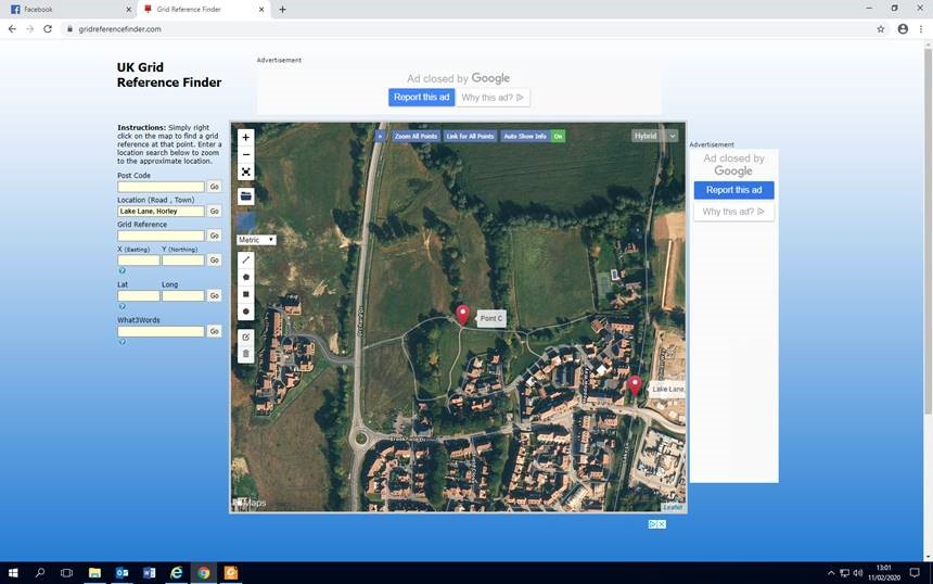 screen shot of meeting location