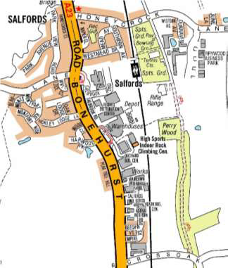 Map showing roadworks on A23 from Crossoak Lane to Lodge Lane