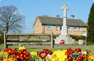 Photo of the war memorial adjacent to the Horley Recreation Grounds