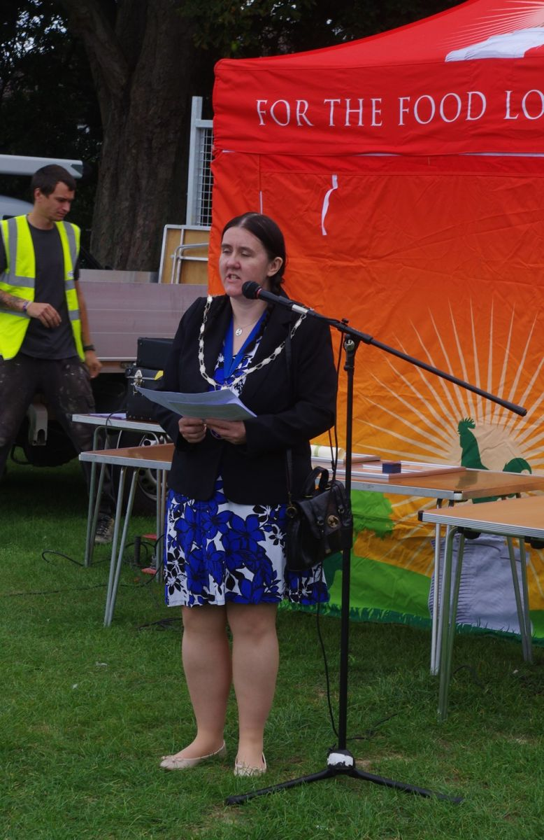 Cllr Samantha Marshall Mayor of Horley