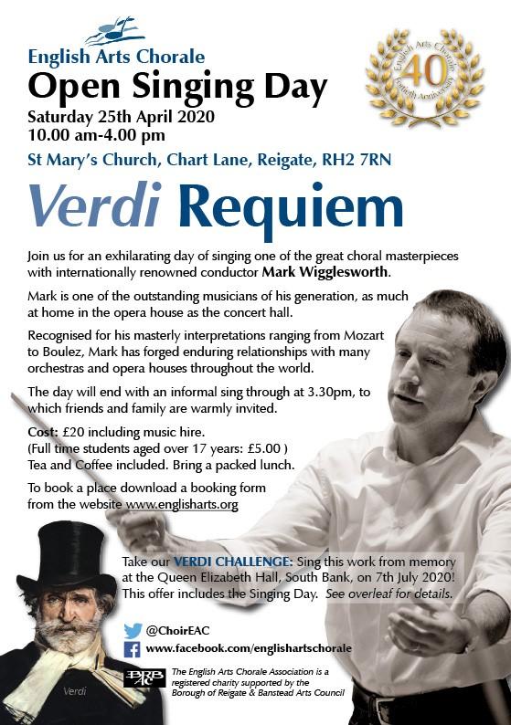 poster advertising Verdi Requiem